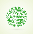 StPatrick Day circle lettering on white background vector image vector image
