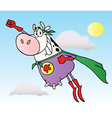 Super Cow Cartoon Character vector image