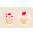 Sweet retro cupcakes silhouettes vector image vector image