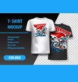 t-shirt template fully editable with motocross vector image vector image