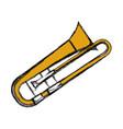 trumpet music instrument vector image vector image