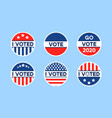 usa 2020 voting icons set circle flat stickers vector image