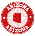 arizona stamp vector image
