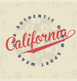 california typography for t-shirt print vector image