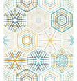 Embroidery seamless hexagons pattern vector image