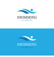 abstract swimming logo vector image