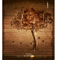 vintage background with tree vector image