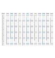 2021 calendar business planner print template vector image vector image
