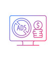 ad-free subscription plan gradient linear icon vector image
