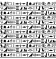 Ancient egyptian seamless horizontal vector image