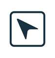 arrow pointer icon Rounded squares button vector image vector image