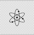atom icon isolated on transparent background vector image