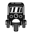 auto rickshaw icon simple style vector image