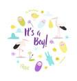 Baby shower its a boy card newborn child birthday