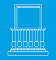 balcony and balustrade icon outline style vector image