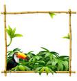bamboo tropical frame vector image