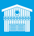 barn for animals icon white vector image vector image