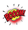boom comic word vector image vector image