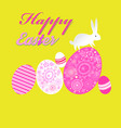 bright unusual greeting card for happy easter with vector image vector image