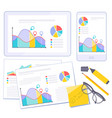 busines flat design presentation template vector image