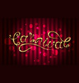 calligraphic lettering for carnival party vector image vector image