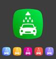 car wash icon flat web sign symbol logo label vector image