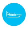 Cargo container ship line icon vector image vector image