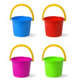 colored baby buckets a set of multi-colored vector image