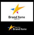 colorful star logo design element logo star vector image vector image