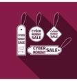 Cyber Monday Sale tag flat icon with long shadow vector image vector image