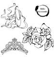 dance line ballet accessories vector image