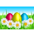 Easter colorful background vector image vector image