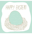 easter greeting with nest vector image vector image