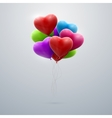 flying bunch of balloon hearts vector image vector image