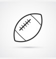 football american flat black icon vector image vector image