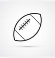 football american flat black icon