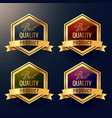 four best quality product label design vector image vector image