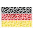 german flag pattern of graduation cap items vector image vector image
