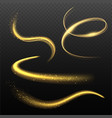 glowing effects lighting shapes with sparks vector image