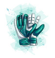 goalkeeper gloves football gloves on white vector image