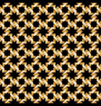 gold weave seamless pattern on black background vector image
