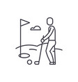 golf player line icon concept golf player vector image