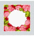 greeting card with watercolor frame pink peony vector image vector image