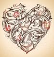 Hand-drawn vintage heart sketch vector image