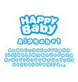 happy baby english alphabet vector image vector image