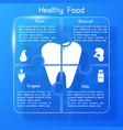 healthy food infographic template vector image vector image