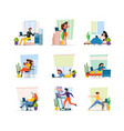 home freelancers professional workers making vector image