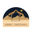 Hut icon Merry Christmas design graphic vector image vector image