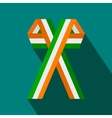 irish ribbons flat icon vector image vector image