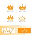 King crown logo icon set vector image vector image